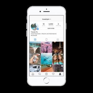5k travel Instagram account