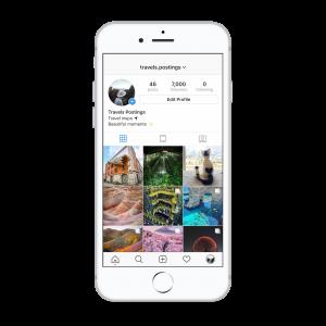 7k travel Instagram account