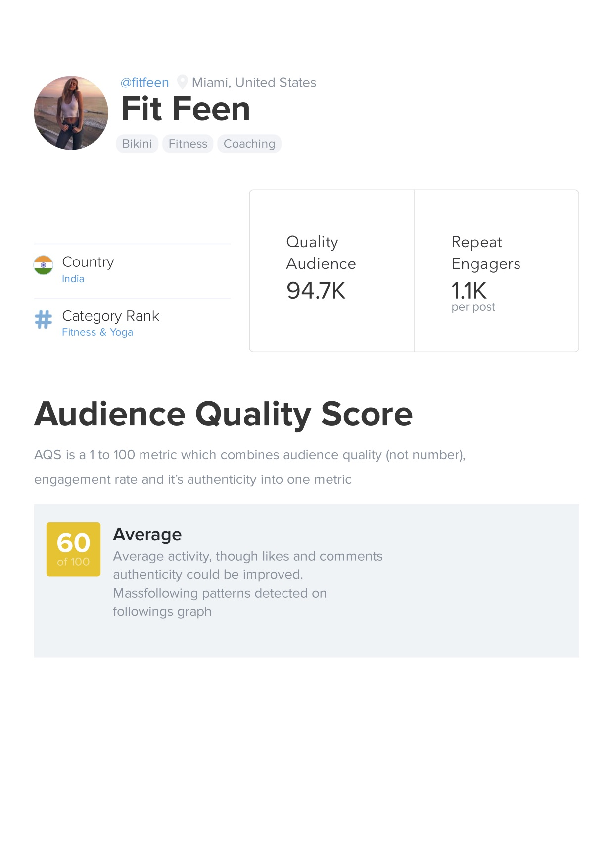 Buy a 174k Instagram account with analytics