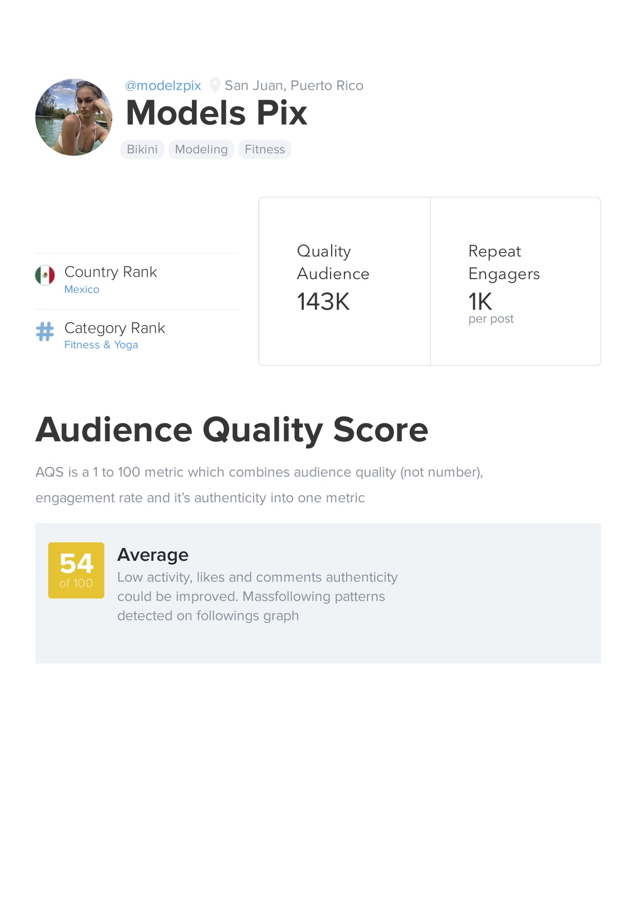Buy a 221k Instagram account with analytics