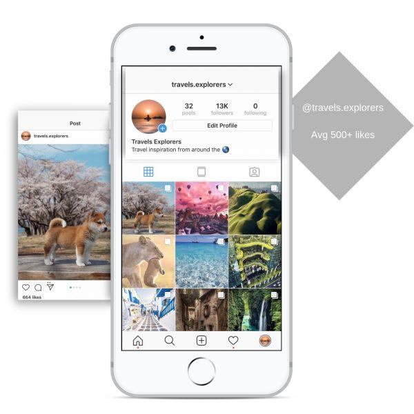 10k travel instagram account for sale
