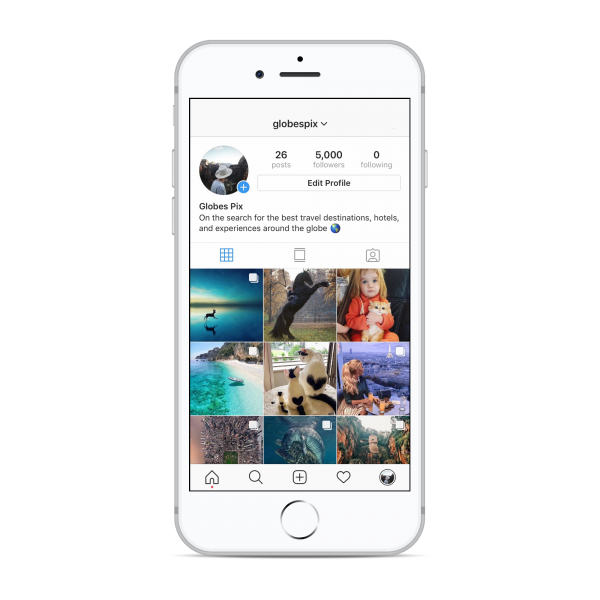 5k travel Instagram account