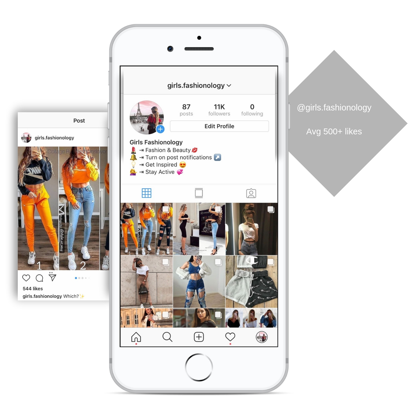 11k fashion instagram account for sale