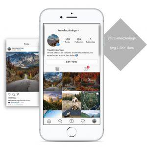 19k travel instagram account for sale