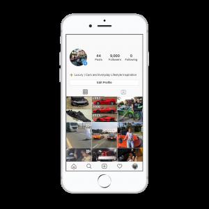 9k car instagram account for sale