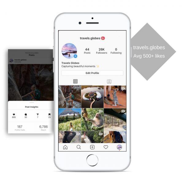 30k travel instagram account for sale