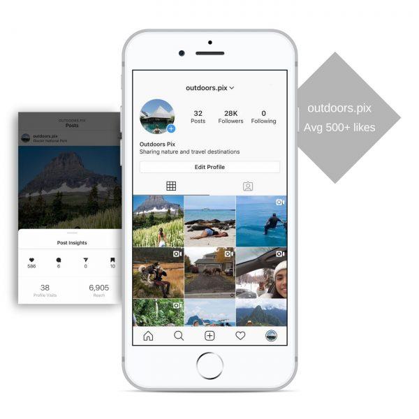 28k travel instagram account for sale