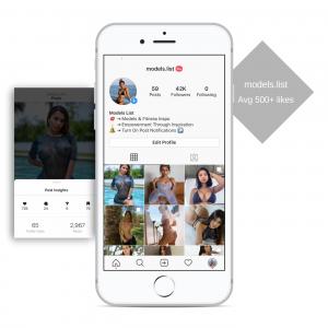 43k models instagram account for sale