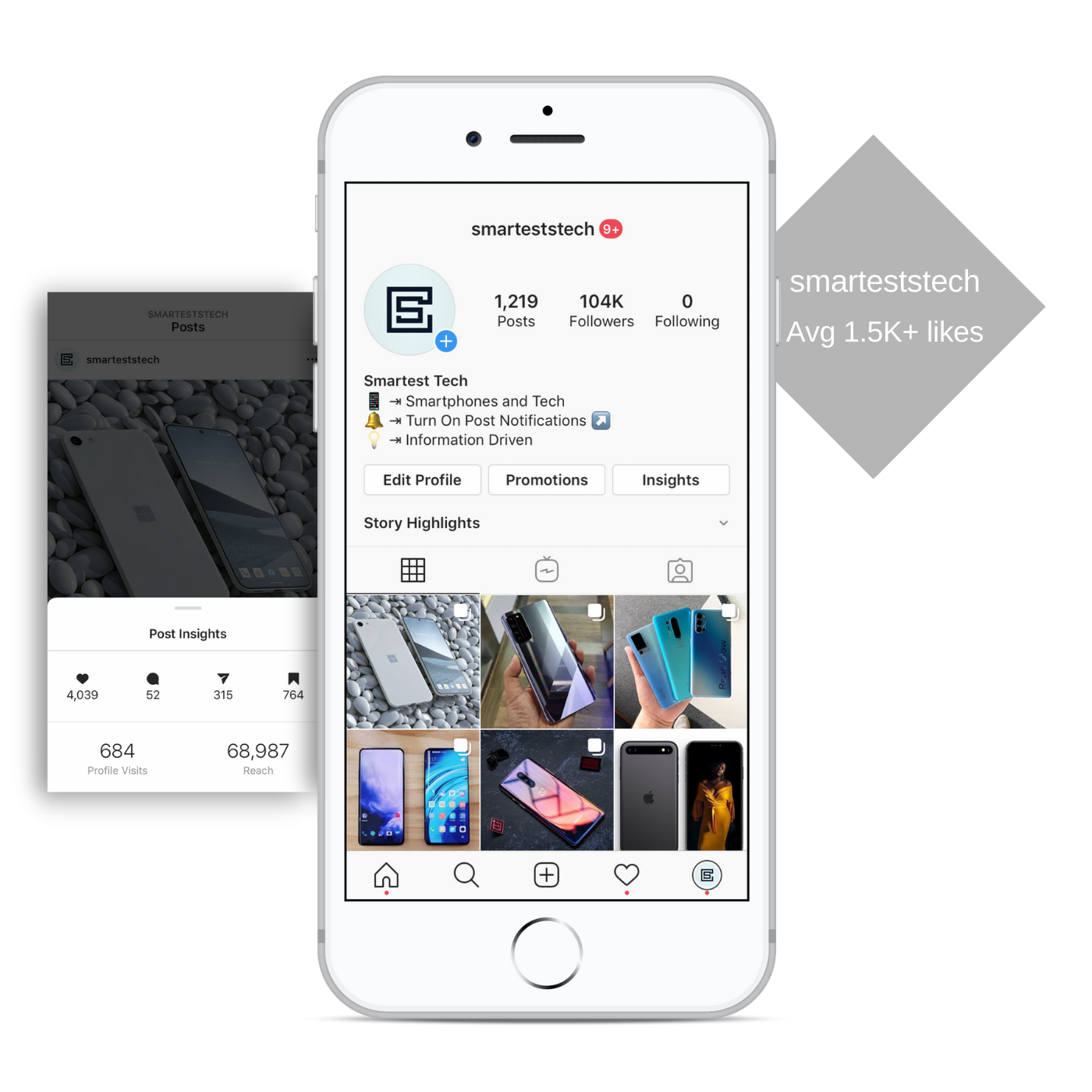 100k smartphone tech instagram account for sale